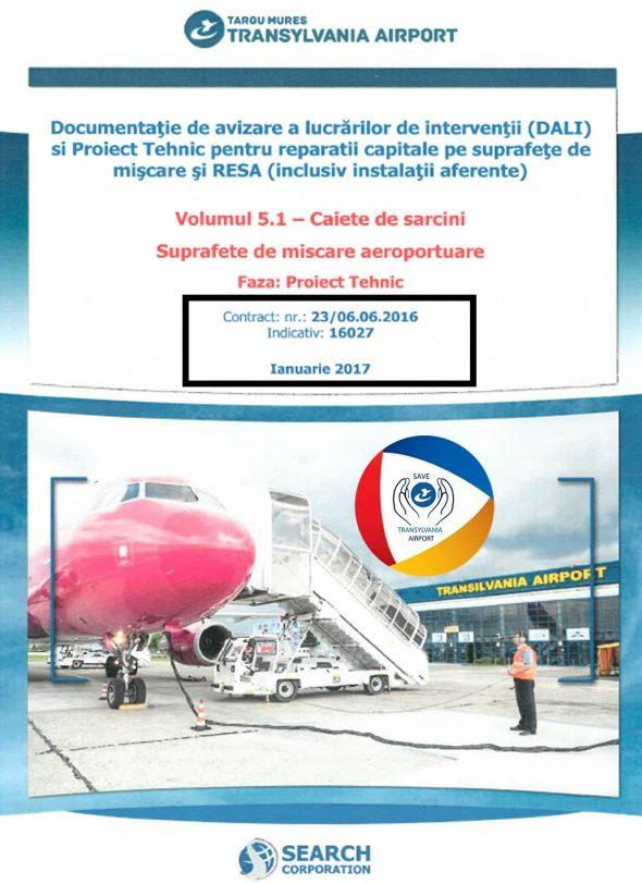 DOCUMENTAȚIE – reconstrucția pistei Aeroportului Transilvania (2017 – 2018)